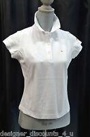 Ellesse Top Tennis Golf Sport Womens Shirt Polo Collar Naples White Sz Xs