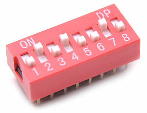 5x-DIP-Switch-8-Positions-Sliding-Toggle-Switches-Top-Actuated-Pack-Kit-USA