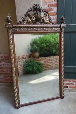 Antique FRENCH Wood Gold Gilt Frame PIER Mirror Gesso Baroque Angel  Victorian