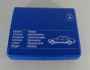 Polstermappe & Lackmuster Mercedes W201/W124/W126/ Sl R107 By 1980-1985