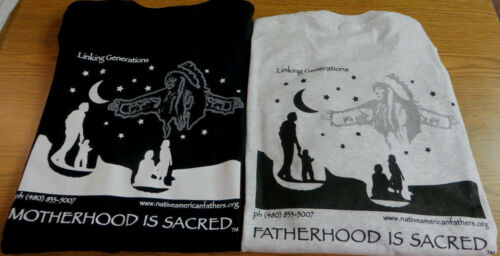 Authentic Native American Design LINKING GENERATIONS Unisex T-Shirt Small-XL