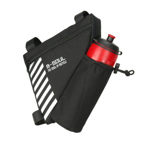 Details about  /Bicycle Cycling Triangle Storage Bag w// Bottle Pocket Bike Bags Waterproof Pouch