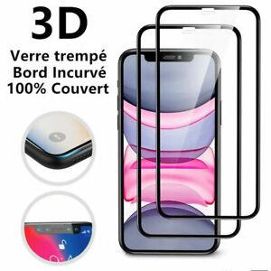 Vitre Protection Ecran Total Film Verre Trempé iPhone X XS 7 8 Plus