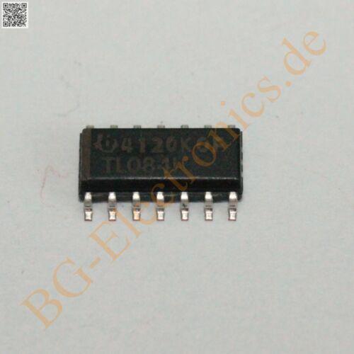 10 x tl084idr opération Amplificateur Operational Amplifier sujets O Ti so-14 10pcs
