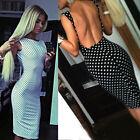 Nuovo Alla Moda Sexy Da Donna Abito A Pois Senza Maniche Canotta Tubino Hoc