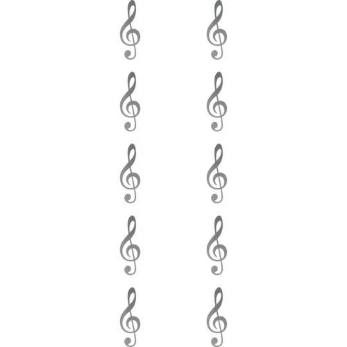 10 Aufkleber 3cm Tattoo Violinschlüssel Notenschlüssel Zeichen Symbol Deko Folie