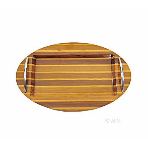 "Chris Craft Serving Sushi Oval Tray Platter 12.5/"" Red Cedar Wood Nautical Decor"