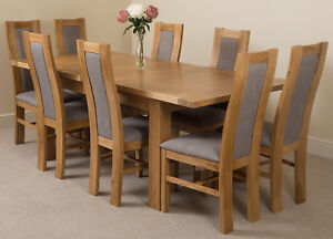 Details About Solid Oak Extending Dining Table And Chair Seattle With Stanford Oak Chairs
