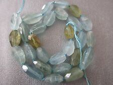 Chinese Aquamarine Faceted Freeform Nuggets Beads 28pcs