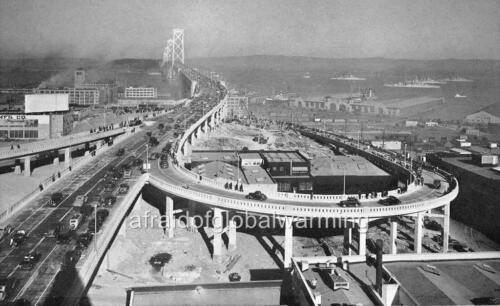 1935-6 Photo San Francisco Sky View Oakland Bay Bridge California