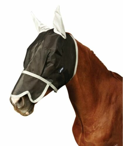 Brand New Roma Buzz Away Fly Mask With Nose And Ears