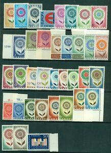 EUROPA-1964-Complete-Yearset-NH-19-countries-Scott-94-10