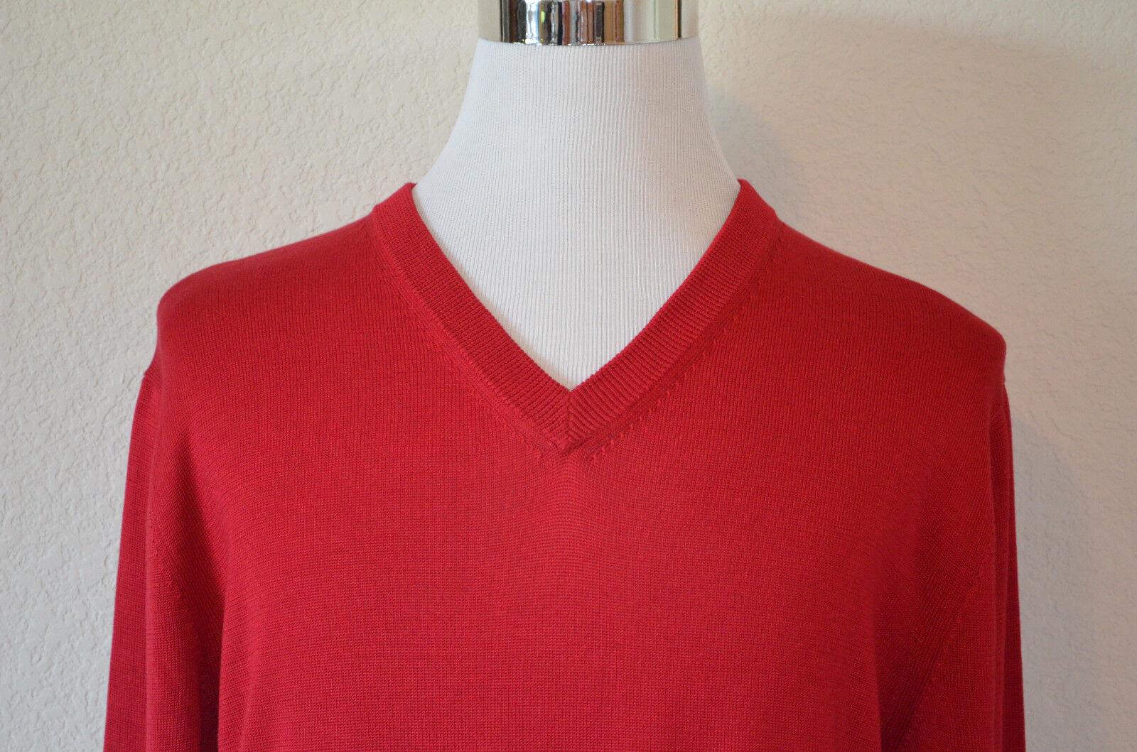 Daniel Daniel Daniel Cremieux M Rot Seide/Baumwollmischung Rot V Auschnitt Pullover (M60) dcaaa2