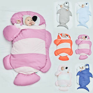 Infant-Baby-Newborn-Sleeping-Bag-Shark-Swaddle-Blanket-Stroller-Wrap-Sleep-Sack