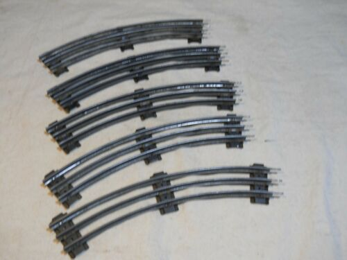 """Lionel NY ~ """"O"""" Scale//Gauge 3 Rail Model Train Track Curve Section Lot of 5 VTG"""