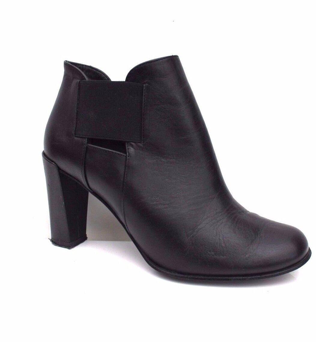 Karen millen Ausgeschnitten Elastisch Chelsea Leder Absatz Knöchelhohe Schuhe 5