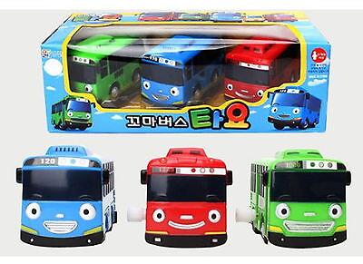 3pcs X Little Bus TAYO Wind UP Bus - Tayo,Rogi,Gani Car Korea Action Figure Toy