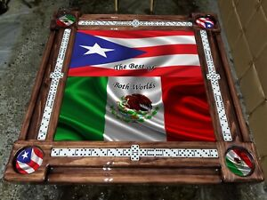 Details About Puerto Rican And Mexican Flag Combo Table By Domino Tables By Art