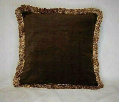 Gold Velvet Cotton Fringe Throw Pillow