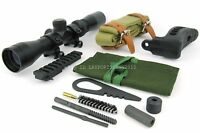 Mosin Nagant Long Eye Relief Scope Combo W/mount ,cleaning Kit, Sling&buttpad
