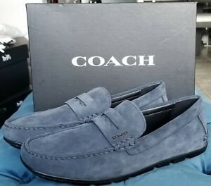 NEW COACH (8 US) Mott Driver Shoes Loafer Casual Leather / Rubber Style #FG2985