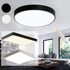 Details zu 18W - 60W Dimmbar Acryl LED Deckenlampe Deckenleuchte Wohnzimmer  Lampe Modern DE
