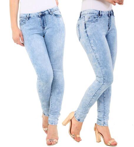 Womens Slim Fit Jean Skinny Denim Low Waist Jeans Size 6 8 10 12 14 New