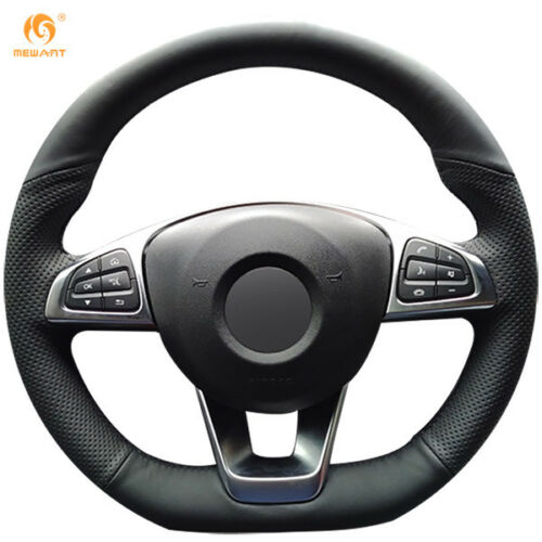 Leather Steering Wheel Cover for Benz C200 C250 C300 B250 B260 A200 A250 #0219
