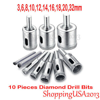 6mm-32mm Diamond Drill Bits Tool Hole Saw Cutter Glass Marble Granite