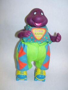 Vintage Barney The Dinosaur On Roller Skates Figure Dino