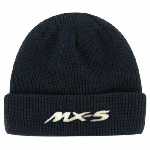Mazda MX5 Embroidered Black Thinsulate Beanie Hat  Classic Car Free P/&P
