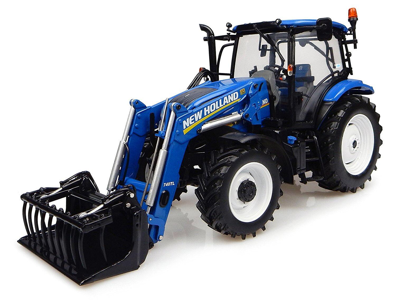 UH4956 - Tracteur NEW HOLLAND T6.145 équipé du chargeur  - 1 32
