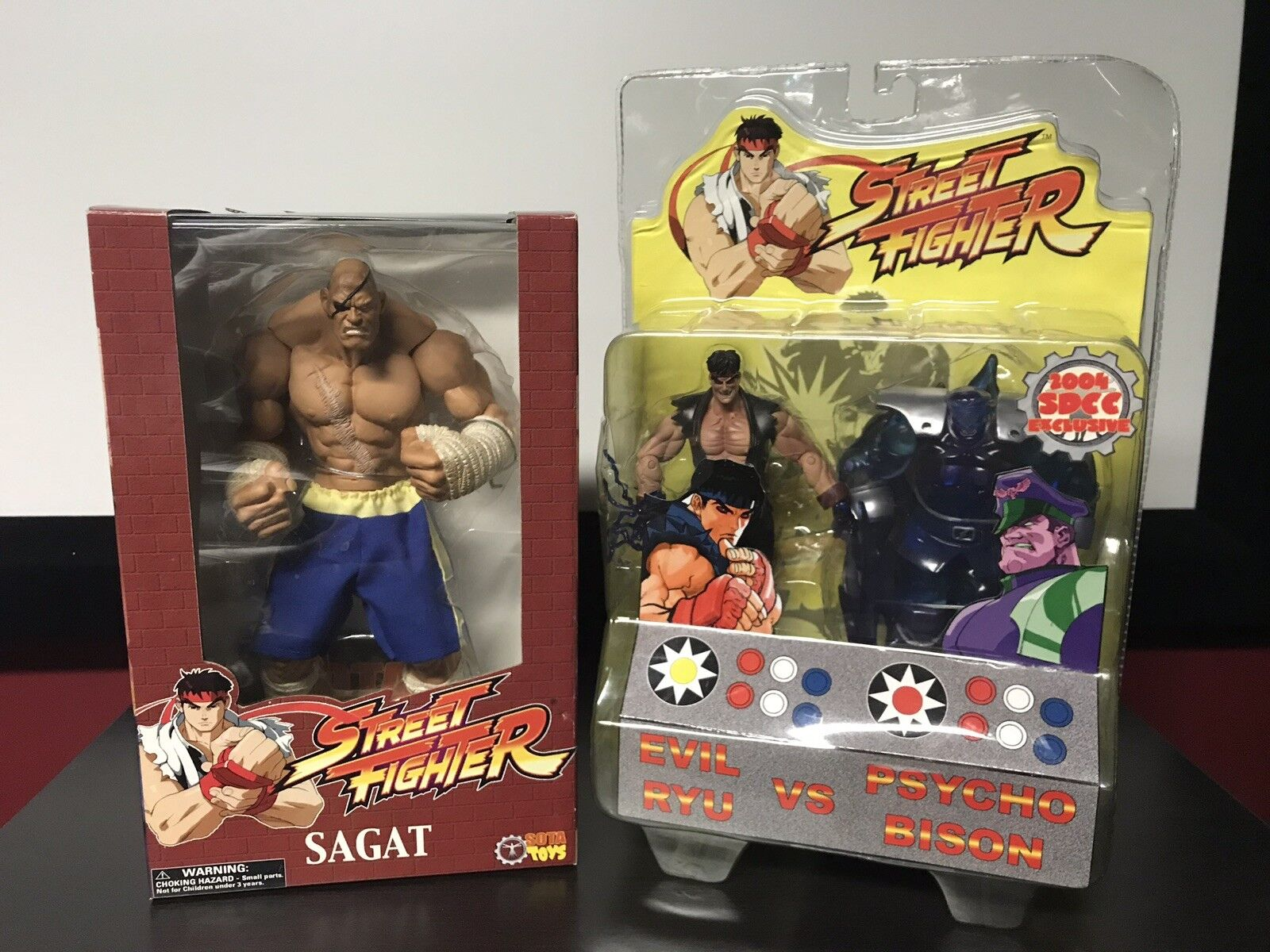 Sota Toys Capcom Street Fighter Sagat SDCC Evil Ruy Psycho Bison LOT New