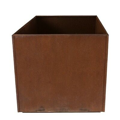 "Square Metal Corten Steel Planter Box Rust Large 16"" Cube, 20"" Cube"