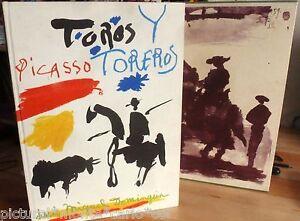 PICASSO-LUIS-MIGUEL-DOMINGUIN-TOROS-Y-TOREROS-RARE-EDITION-ORIGINALE-1961-LIVRE