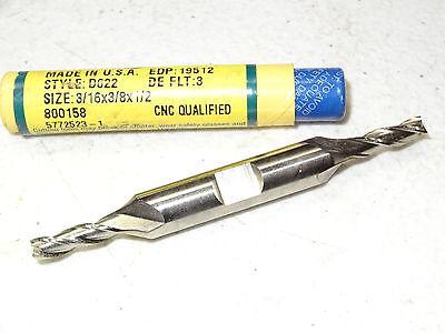 "GREENFIELD DOALL 7//16/"" HSS Cobalt Double End 2 Flutes End Mill endmill USA 81028"