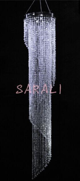 Iridescent Spiral Chandelier Wedding Centerpiece Acrylic Crystal Diamond cut