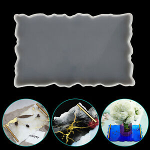 Silicone-Tray-Holder-Table-Mat-Resin-Casting-Mold-Coaster-Epoxy-Mould-Tool-DIY