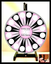 """Prize Wheel 18"""" Spinning Tabletop Portable Mary Kay"""