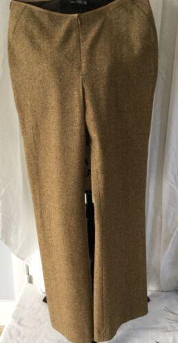 Pantaloni in larghi Design colori senape a tahari Sz dritti lana donna da unico 10 10 wwr1x