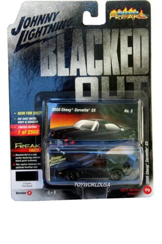 2018 Johnny Lightning STREET FREAKS Blacked Out #03 2000 Chevy Corvette C5