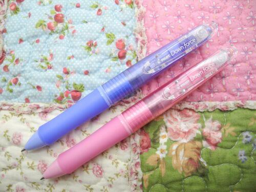 Soft Blue /& Soft Green NEW Pilot DOWN FORCE 0.7mm retractable ball pen Japan