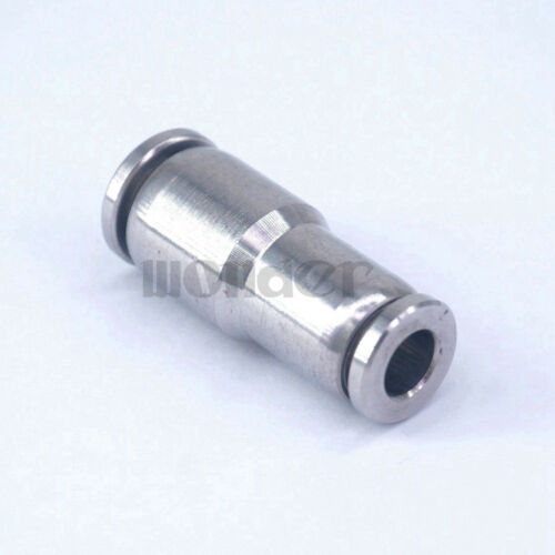 Pneumatic Reducer Union Tube OD 8-6mm Stainless Fitting Quick Straight Connector