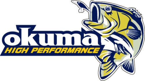 "Okuma high performance fishing vinyl sticker decal 6/""x3/"""