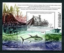 FSAT TAAF 2017 MNH Tuna Fishing 2v M/S Ships Boats Fish Fishes Stamps