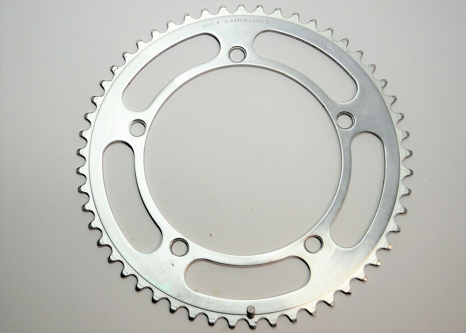 BREV CAMPAGNOLO NUOVO RECORD BICYCLE 5 ARM 53 TOOTH ALLOY CHAINRING 144 MM BCD