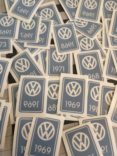 VW vintage YOM /'year of manufacture/' Decal Sticker; mk1 mk2 mk3 Bug bus Type3