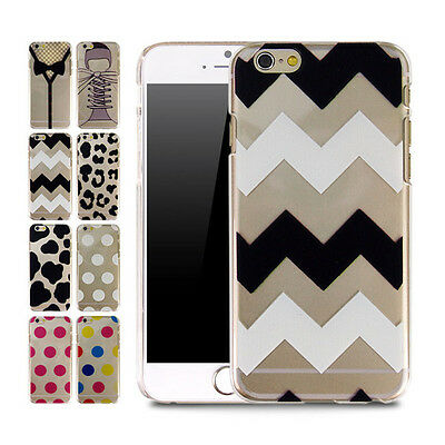 Cute Pattern Transparent Thin Hard Case Cover For iPhone 6 & For iPhone 6 plus
