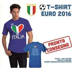 a74a6723c8 Caricamento dell immagine in corso MAGLIA-T-SHIRT-ITALIA-EURO-2016-TIFOSI- AZZURRA-
