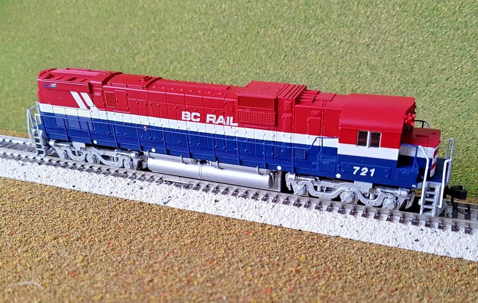 los clientes primero Atlas 1 160 N escala C-630 British Columbia BC BC BC Rail Road DC   721   40001979 F S  100% autentico